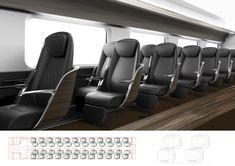KTX Business Class Renewal on Behance Car Interior Design, Automotive Design, Airplane Interior, Aircraft Interiors, Soft Seating, Futuristic Cars, Communication Design, Design Strategy, Boat Design