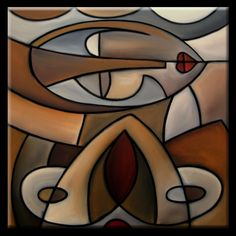 Mama - Original Large Abstract Contemporary Modern Art Cubist Painting by Fidostudio via Etsy.