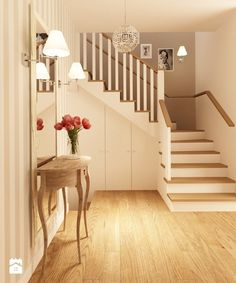 Cottage Hallway, Moving Wallpapers, Entryway Stairs, Stair Landing, Stairways, Architecture Design, New Homes, Sweet Home, Decoration