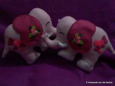 Prendedor de cortina: Elefantinhas rosas  by Litta Santos