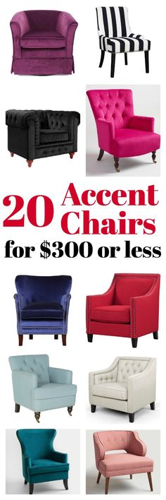 Affordable Accent Chairs for $300 or Less | Accent Chairs for Living Room | Upholstered Chairs | Upholstered Accent Chair