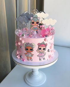 Yoghurt cake with Cook Expert - HQ Recipes Doll Birthday Cake, Funny Birthday Cakes, Birthday Parties, Lol Doll Cake, Surprise Cake, Surprise Birthday, Doll Party, Lol Dolls, Girl Cakes