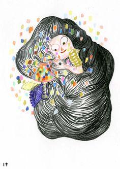Shiseido Hanatsubaki / illustrator : kitty crowther