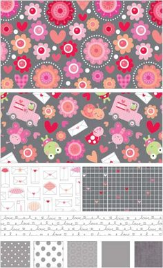 Lovebugs Collection fabric line by Doodlebug Designs for Riley Blake Designs—Subscribe to our newsletter at http://www.rileyblakedesigns.com/newsletter/