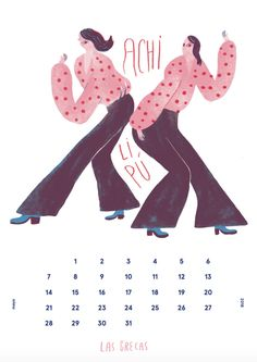 Cinta Arribas illustrateda calendar featuringwomen in music, aproject for Leãozinho, an NGO combattingpoverty and social exclusion withmusic. Leãozinh