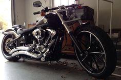 2014 Harley Davidson Breakout Harley Softail, 2014 Harley Davidson, Custom Motorcycles, Bike, Man Stuff, Scooters, Chopper, Vehicles, Wheels