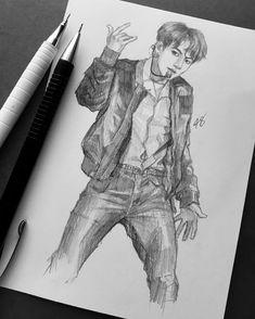 commission @/leucistic.art  . . . . #jungkookfanart #jungkook #jeonjungkook #btsfanart #sketch #kpopfanart #anatomy #bts #bangtanboys…