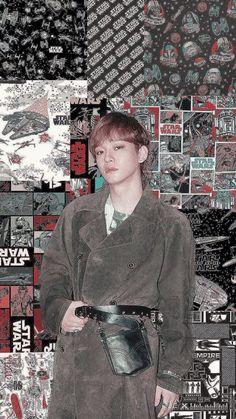 chen and star wars. Kyungsoo, Chanyeol, Exo Lockscreen, Exo Chen, Kpop Exo, Picsart, Aesthetic Wallpapers, Kai, Girly