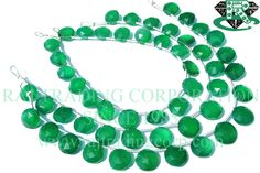 AAA Quality Green Onyx Beads In Coin Faceted Shape, to 9 mm, 18 cm, 18 pieces, Semiprecious Gemstone Beads Semi Precious Beads, Semi Precious Gemstones, Bead Store, Green Onyx, Gemstone Beads, Turquoise Necklace, Unique Jewelry, 9 Mm, Beadwork