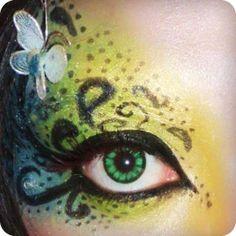 Good Idea for makeup on Halloween :)
