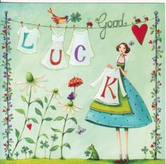 Mila Marquis Good luck by Art Fantaisiste, Jolie Photo, Marquis, Good Luck, Whimsical Art, Cute Illustration, Birthday Wishes, Cute Art, Painting & Drawing