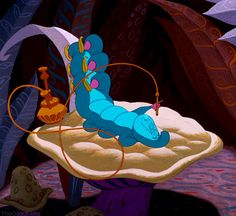 "Blue Caterpillar - Disney's ""Alice In Wonderland"" Scarred You For Life (animated GIF)"