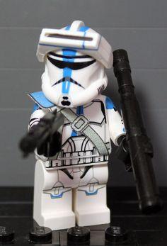 Clone Army Customs | Recon 501st Trooper Lego Clone Army, Lego Army, Lego Star Wars, Star Wars Clone Wars, Lego Custom Minifigures, Lego Minifigs, Lego Figures, Action Figures, Boba Fett Helmet