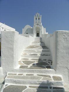 Chryssopigi church in Sifnos island, Greece