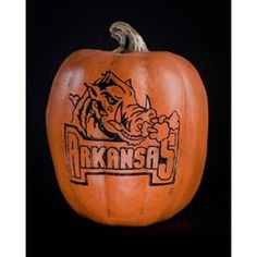 Arkansas Razorbacks Pumpkin