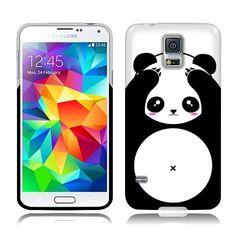 11.99 Nextkin Samsung Galaxy S5 G900 Silicone Skin TPU Gel Cover Case - Panda Bear Black White