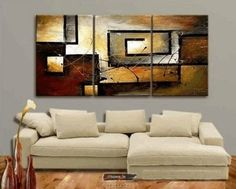 Wall Paintings  - Pin it :-) Follow us, CLICK IMAGE TWICE for Pricing and Info . SEE A LARGER SELECTION of wall paintings at http://azgiftideas.com/product-category/wall-paintings/  - gift ideas, house warming gift ideas, home decor - 100% Hand Painted Modern Oil Painting on Canvas Wall Art Home Decoration 3 Piece Canvas Art Unframe and Unstretch