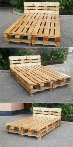 The Best and Easiest DIY Ideas with Recycled Wood Pallets Pallet Bed Frame The post The Best and Easiest DIY Ideas with Recycled Wood Pallets appeared first on Pallet Diy. Wooden Pallet Beds, Pallet Bed Frames, Diy Pallet Bed, Diy Pallet Furniture, Wood Pallets, Pallett Bed, Beds On Pallets, Unique Wood Furniture, Pallet House