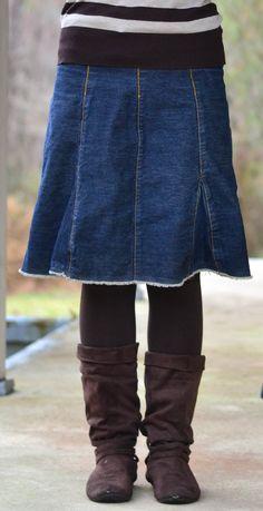 frayed denim skirts long | ... Large Jypsy Jeans Long Denim Skirt ...