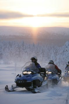 Snowmobiling in Saariselkä, Finland by Visit Finland Lappland, Winter Fun, Winter Travel, Finland Destinations, Freedom Travel, Lapland Finland, Scandinavian Countries, Helsinki, Winter Wonderland