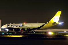 Night flight - A330-243 Monarch Airlines