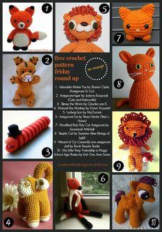 Free Crochet Pattern Friday Round Up   Orange!