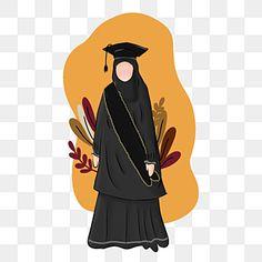 Graduation Cartoon, Graduation Silhouette, Islamic Cartoon, Hijab Cartoon, New Years Background, Paper Flower Tutorial, Cartoon Design, Galaxy Wallpaper, Cute Illustration