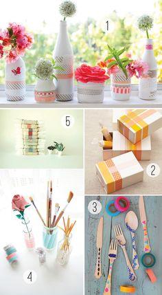 Washi Tape Ideas and Inspiration via Stockroom Vintage http://www.stockroomvintage.com/2012/04/pin-me-pretty-washi-tape-ideas/