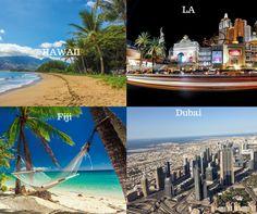 If money was no object..where would you go? :D #LA #Hawaii #Dubai #Fiji