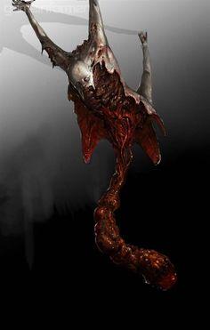 Ideas For Concept Art Game Dead Space Monster Concept Art, Fantasy Monster, Monster Art, Dark Creatures, Fantasy Creatures, Creature Concept Art, Creature Design, Lovecraftian Horror, Horror Artwork