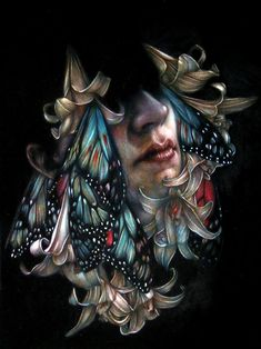 Colored pencil loveliness. A lot of James Jean in these, but that's a-okay with me.  (By Marco Mazzoni)