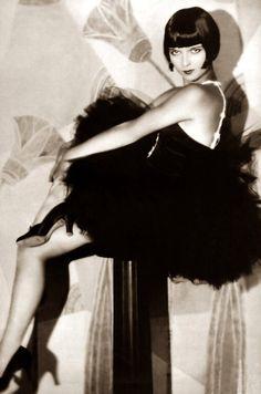 Louise Brooks. Maybe Catherine Zeta Jones' inspiration for Chicago- same exact look!