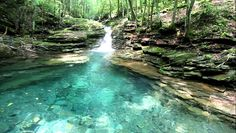 4. The Devil's Bathtub sounds ominous, doesn't it? It's located in Scott County and considered difficult to get to via the 7.2-mile  Devil's Fork Loop Trail. Plan to get your feet wet as you criss-cross the water and scramble over boulders. The Devil's Bathtub is a naturally smooth swimming hole, complete with a water slide rock.   Must go!!!