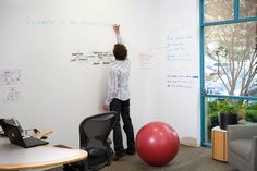 "IdeaPaint wall --- ""Innovation is absolutely necessary."""