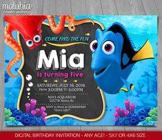 Búsqueda de Dory invitación encontrar Nemo Dory por MaluhiaPrints