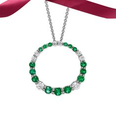 Effortless elegance. May's birthstone, emerald, makes quite the statement.