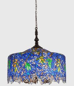 Tiffany-Stained-Glass-Wisteria-Pendant-30-inches-Diameter- Huge  $1975.00 Free Shipping - For Sale Now