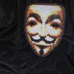 V for Vendetta perler beads by wubwear