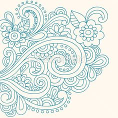 Free Paisley Designs | Henna Tattoo Paisley Doodle Vector Royalty Free Stock Vector Art ...