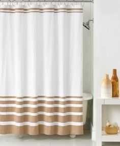tan striped shower curtain. Hotel Collection Gradient Stripe Shower Curtain  Tan Beige Martha Stewart Bath Accessories Encore