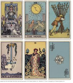 Tarot card art can be inspiring.