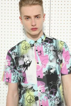 Blood Brother All-Over Print Short Sleeve Shirt at Urban Outfitters