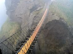 Carrick-a-Rede Rope Bridge, Northern Ireland.  Bring.It.On.