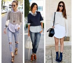 how to wear cropped sweater - Google Search