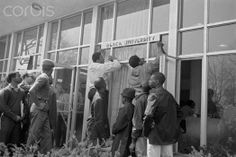 """From March 19-23, 1968, Howard University students seized the Administration Building. As one of the conditions for vacating the building, the students insisted on the establishment of a non-pre-requisite course in African American history. As noted in Eyes on the Prize, ""The protest at Howard University sped up the spread of the Black Student Union and Black Studies movements nationwide."""