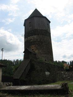 Pirkštejn in Rataje nad Sázavou -last main castle tower, later bell tower