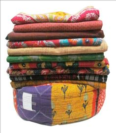 Wholesale Kantha Quilt Handmade Vinatge kantha Quilts Vintage Decor Art 5 pc Set #Handmade #Traditional