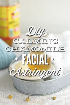 DIY Calming Chamomile Facial Astringent - A calming and soothing facial astringent that only requires 2-3 ingredients! This stuff works great on acne-prone skin or mature skin looking for a vibrant glow!