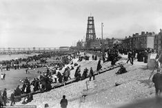 Never-before-seen shots show Blackpool Tower being built 125 years ago Blackpool Promenade, Blackpool Beach, Blackpool England, Elephant Images, Today Images, Shot Show, Rochdale, Tower Building, Evening Sky