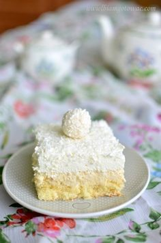 Rafaello na biszkopcie Some Recipe, Pina Colada, Vanilla Cake, Favorite Recipes, Dishes, Aga, Food, Polish, Backen